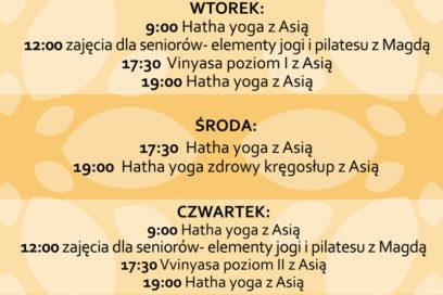 Nowy grafik na Jesień / Zima od 15.11.2019r.